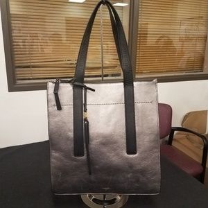 NWOT: Metallic Leather Tote